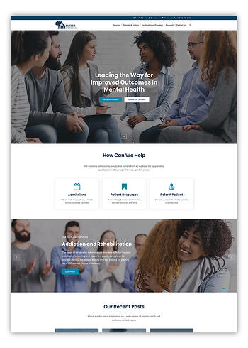 Butler Hospital Website Design in HubSpot CMS