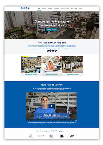 Water Treatment Company Website Design HubSpot CMS