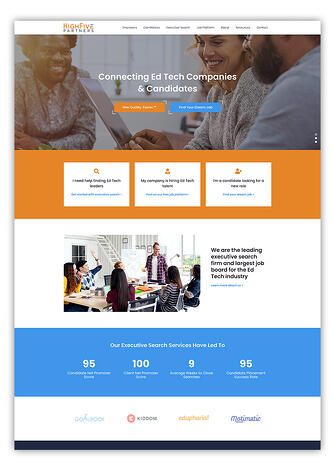 EdTech Software Company Website Designed In HubSpot