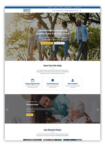 Kent Hospital Website Design in HubSpot