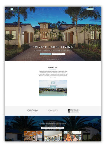 London Bay Homes Designed Website In HubSpot
