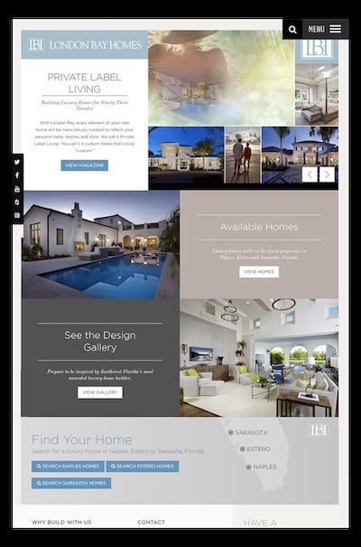 London Bay Homes - Website Design