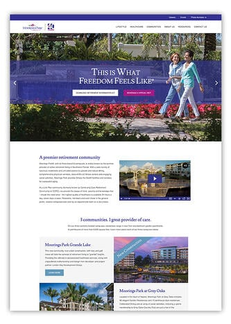 Retirement Community Website Design In HubSpot CMS