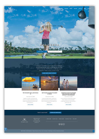 Mediterra Naples Website Design In HubSpot CMS