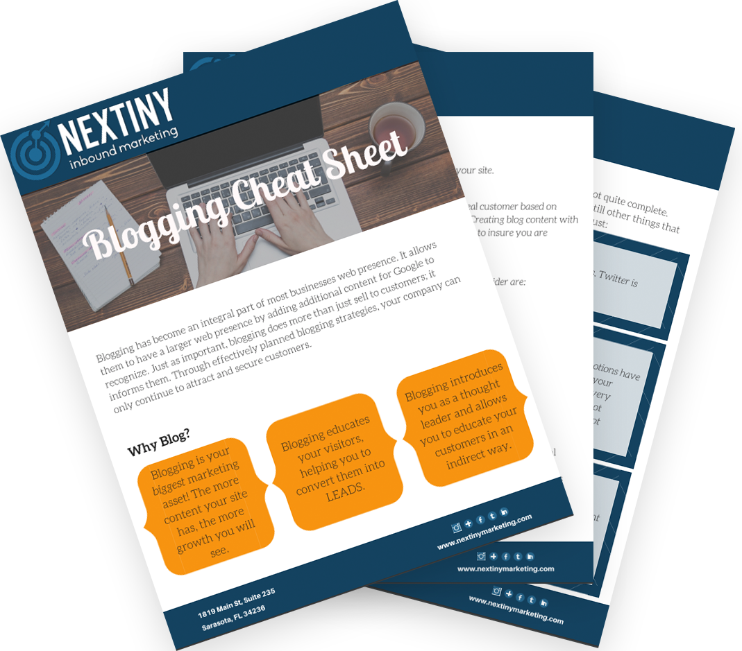 NEX blogging cheat sheet fan