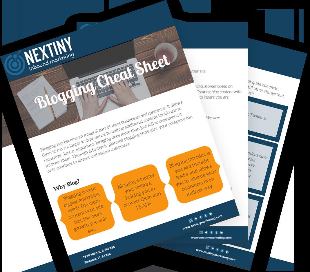 NEX blogging cheat sheet fan