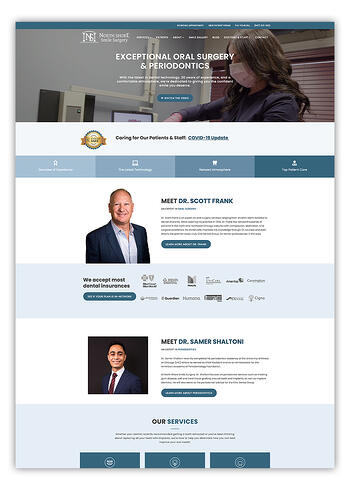 Northshore Smile Surgery Website Design