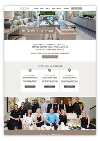 Romanza Interior Design Website Design HubSpot
