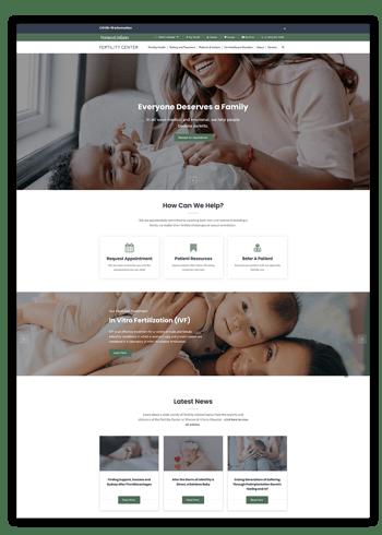 Fertility CNE Website Portfolio