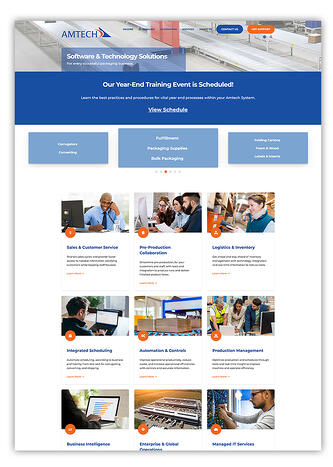 Software Company Website Designed In HubSpot