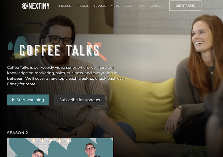 Coffee Talks video series and building brand affinity by creating consistent content