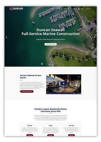 Duncan Seawall HubSpot Designed Website