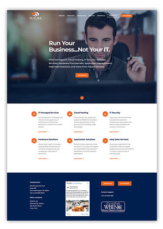 IT Company Website Design In HubSpot