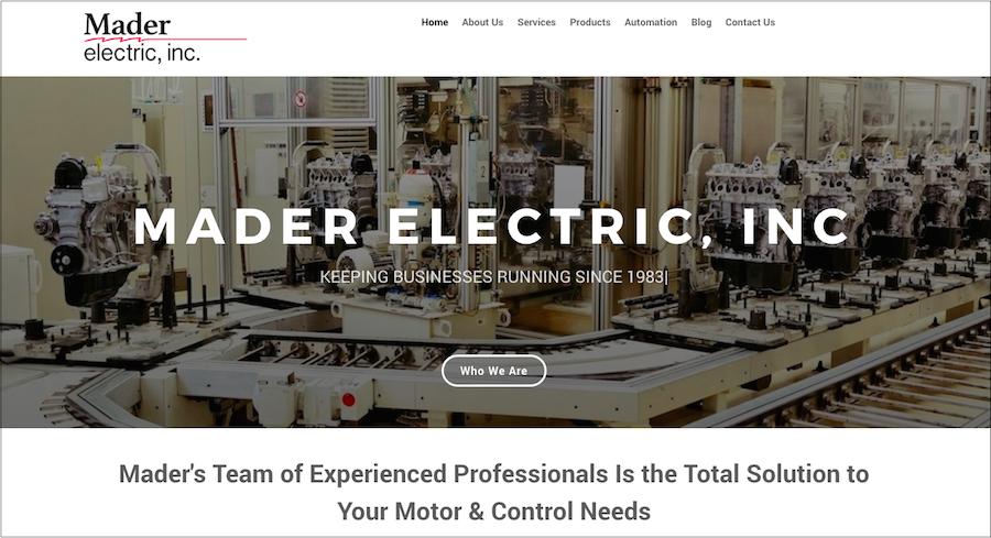 Mader Electric Website3