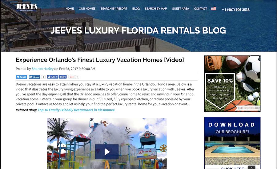 Jeeves luxury vacations orlando florida