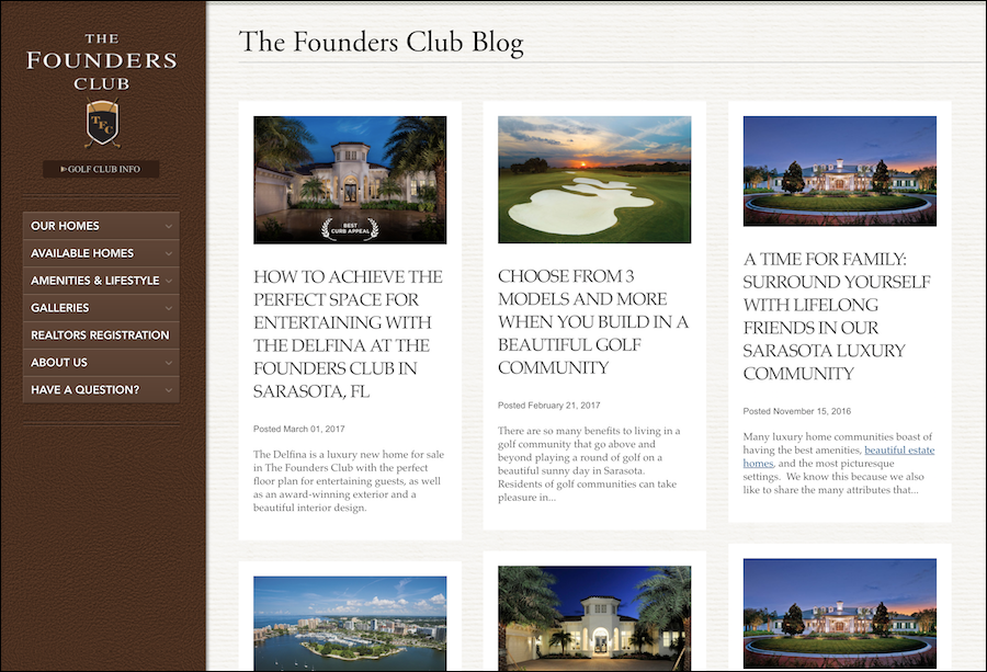 The Founders Club Luxury Real Estate Sarasota
